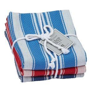 Nautical Striped Kitchen Towel Set of 3. NWT